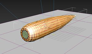 old corn low poly 3D model