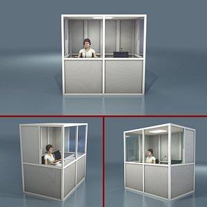 3D model translation booth interpreter