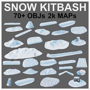 snow kitbash pack 3D