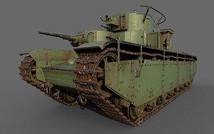 3D soviet heavy tank