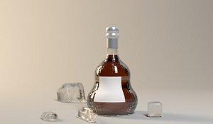 wine bottle 3D