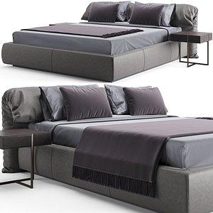 bed bedside tables model