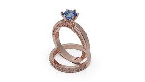 solitaire wedding engagement 3D model