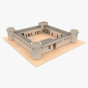 Al Koot Fort Qatar 3D model
