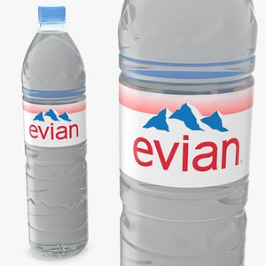 3D evian natural mineral water model