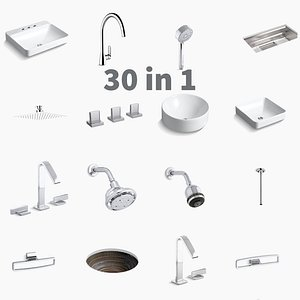 3D Bathroom Furniture And Accessories