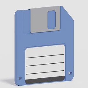 3D Cartoon Floppy Disk model