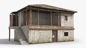 3D slum shanty hut model