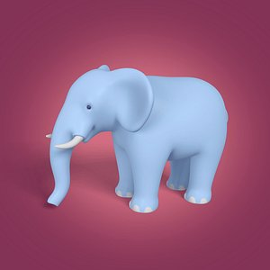 elephant cartoon toon 3D model