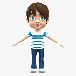 boy baby cartoon 3D model