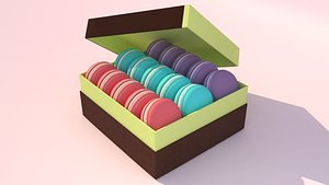 macaron 3D model