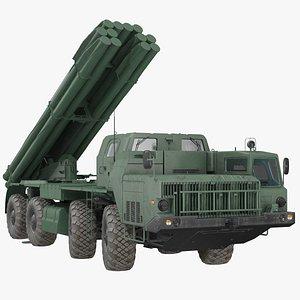Multiple Rocket Launcher System Smerch model