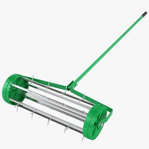 Lawn Spike Roller 07 3D model