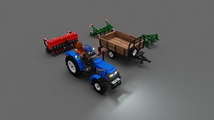 3D voxel agricultural machinery pack