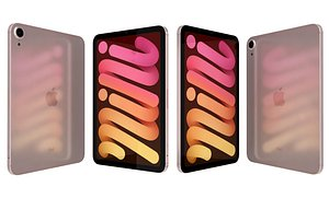 3D Apple iPad 10 2 2021 9th Gen Pink model
