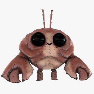 cartoon mr crab 3D