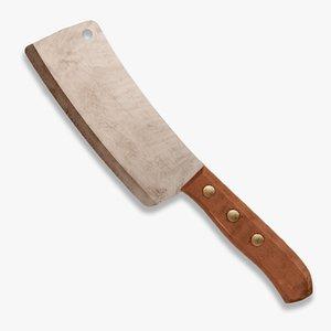 cleaver knife 3D model
