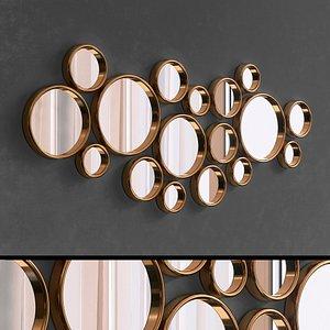 Mirrors Set 107 3D model