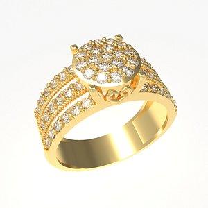Round diamant ring 3D model