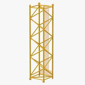 3D crane s intermediate section model