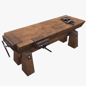 3D model workbench work bench