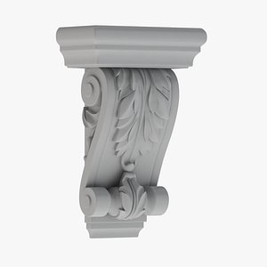 3D model Scroll Corbel 57 - 3D Printable