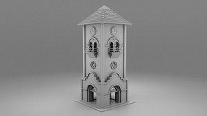 wild west clock 3D model