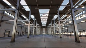 3D model warehouse building
