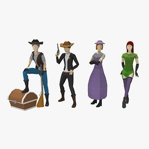 3D western pack
