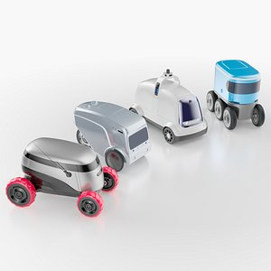 Delivery robots pack 4-in-1 model