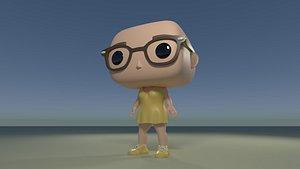 3D diy custom pop girl
