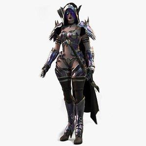 Elf Female Archer Warrior UE - Unity 3D model