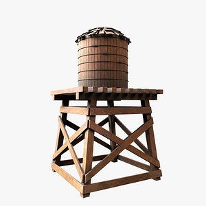 3D Old Water Tower V2