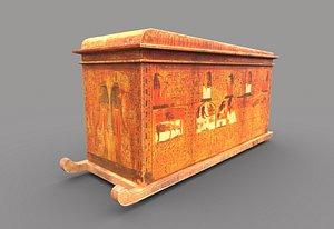 egyptic sarcophagus 3D model