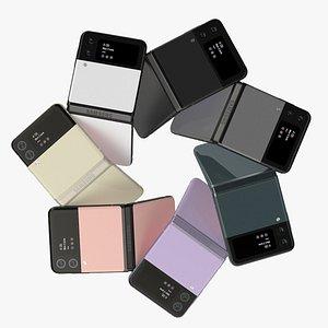 3D Samsung Galaxy Z Flip 3 All Colors model