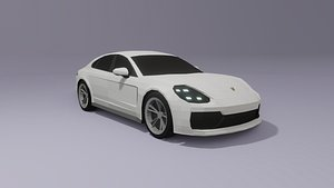 3D Porsche Panamera low poly 3D model