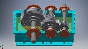 3D model gearbox speed reducer