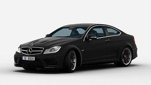 3D Mercedes Benz C63 AMG Black Series 3d Model
