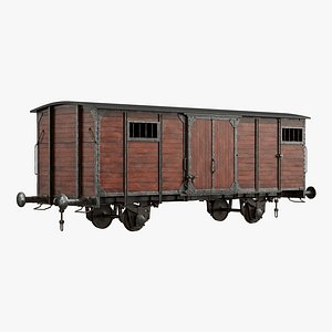 wooden freight 3D model