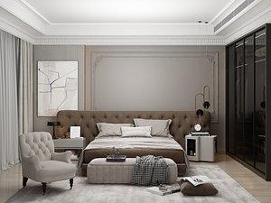 3D Modern Style Bedroom - 536