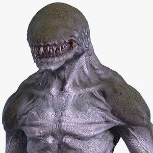 3D Monster Beast Rigged for Cinema 4D model