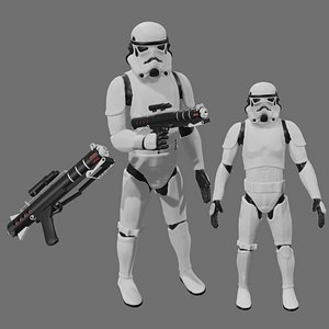 Rigged Stormtrooper 3D