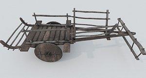 Ox Cart PBR 3D model