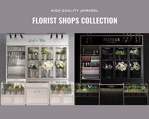 florist shops stores classic 3D model