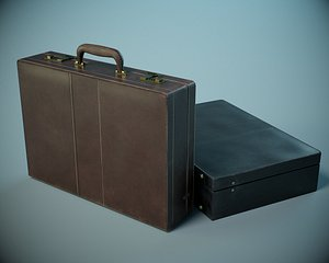 Leather Briefcase PBR 3D model