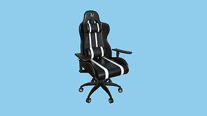 3D Gamer Chair 01 - Black White - Furniture Interior Design model