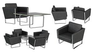 Carl Hansen Lounge chair coffee table 3D model
