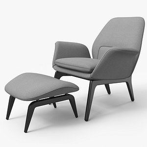 Lounge Chair Gray - PBR 3D model