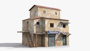 3D model slum shanty hut