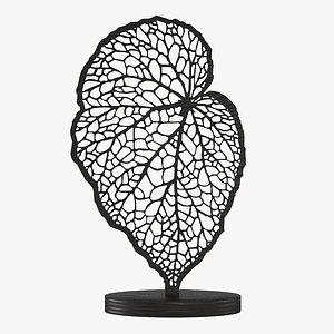 Decorative statuette Leaf 3D model